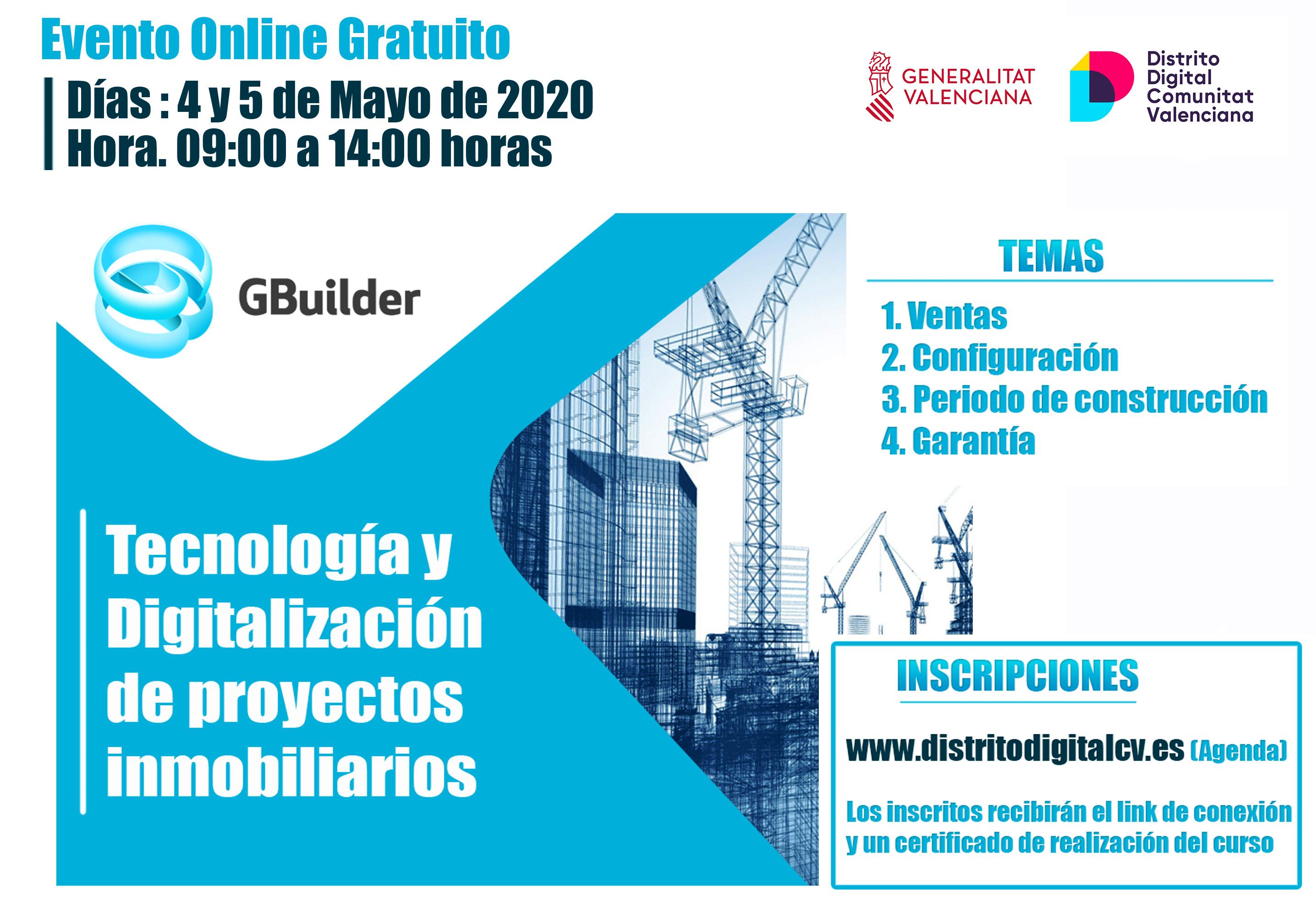 Formación GBuilder Distrito Digital Tecnología Inmobiliaria